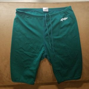 Young Mens Dolfin Swim Trunk Green - Size 28